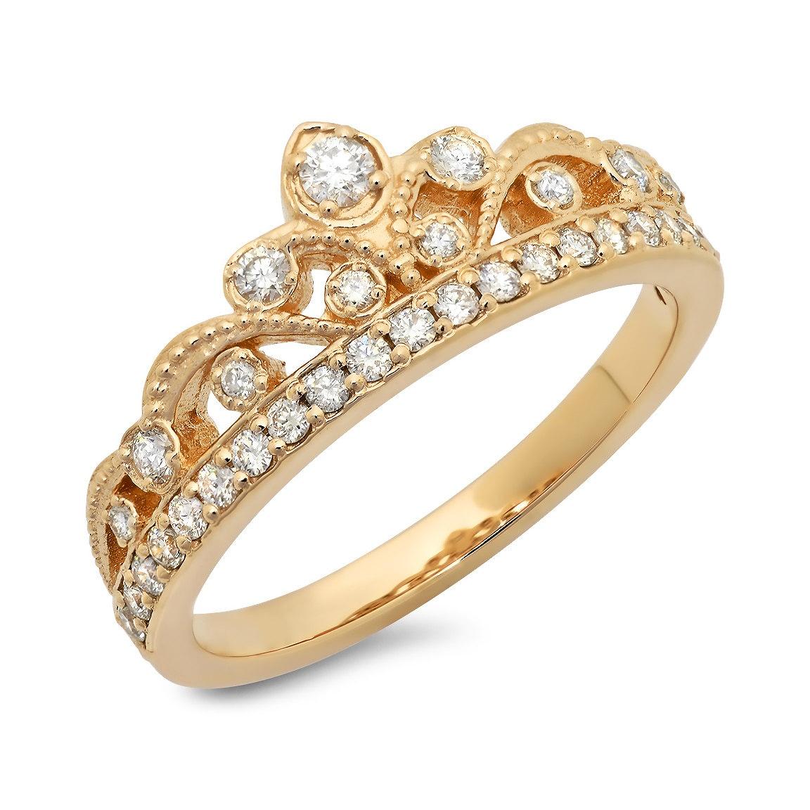 princess crown ring 40 ct tw by jewelersenterprise