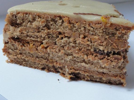 marzipan caramel cakes with orange chocolate ganache, layered cakes ...