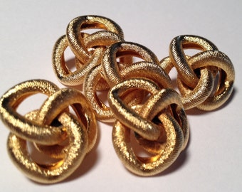 Vintage Gold Knot Buttons