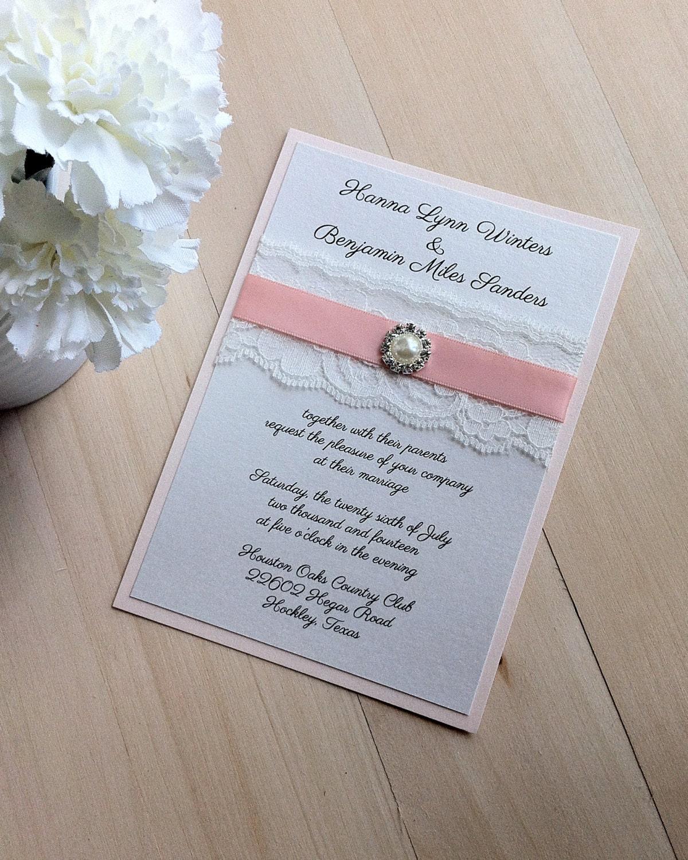 Items Similar To Lace Wedding Invitation