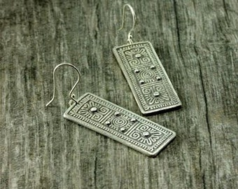 Cryptic tiles earrings