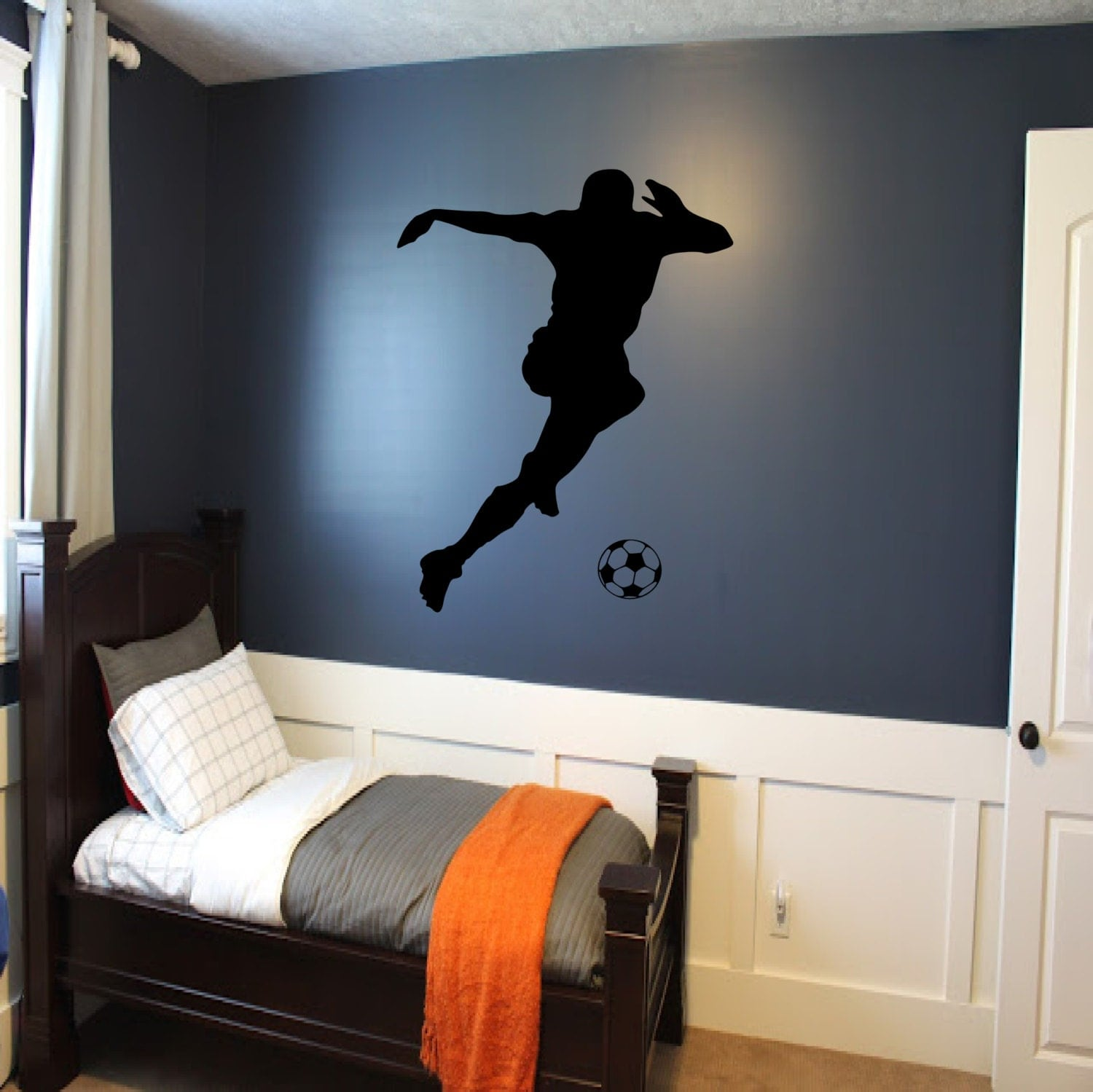 Soccer Player Wall Decal Soccer Wall Decor Sports Decal