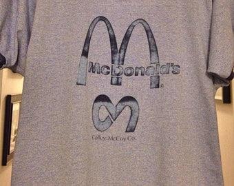 Mens Shirt, Vintage Mens Shirts, Mens Vintage Clothing, McDonalds Shirt XL
