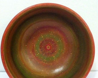 Autumn Earth, Wooden Hand Painted Bowl