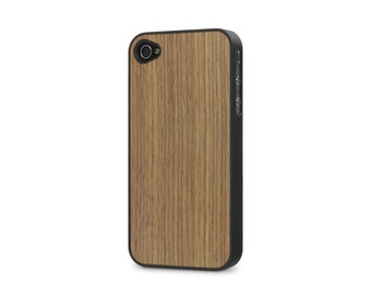 iPhone 4 / 4s #WoodBack Real Wood Case - Walnut (FREE and Fast Delivery)