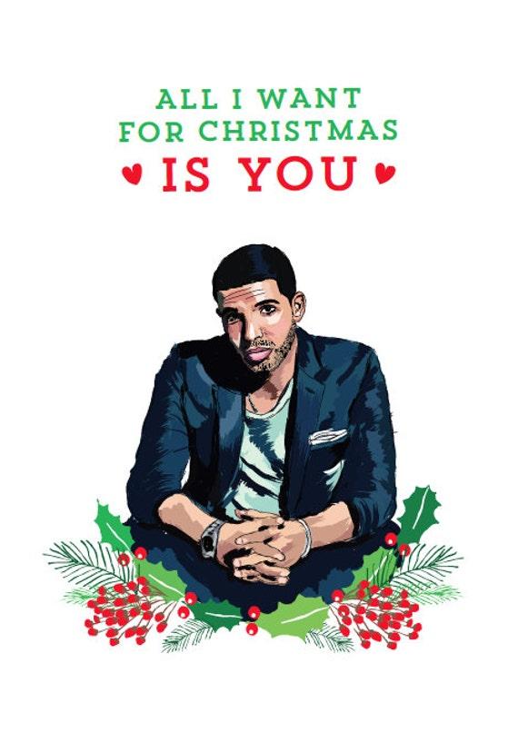 Drake Rap Christmas Card by WakaFlockaLuke on Etsy
