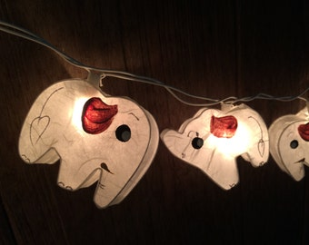 20 x Elephant paper string light for decor ,bedroom, wedding, party, garden,lamp,lantern