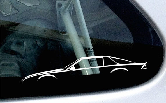 2X car silhouette stickers For Chevrolet by SundownStickers