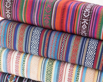 colorful stripy fabric boho bohemian fabric upholstery fabric home decor fabric curtain sofa table cloth 12 yard