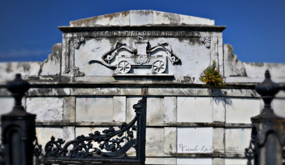 NEW ORLEANS CEMETERY Photograph ~ Lafayette Cemetery #1 ~ Garden District ~ New Orleans, Louisiana