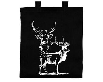 Cotton jute bag deer, tote bag bag tote bag deer screen printing screen printing