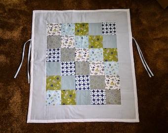 Stroller Quilt / Car Seat Quilt with Ties / Car Seat Blanket / Stroller Blanket