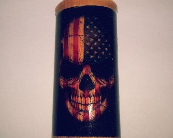 Skull Flag Bic Lighter Case, American Lighter Holder, Lighter Sleeve
