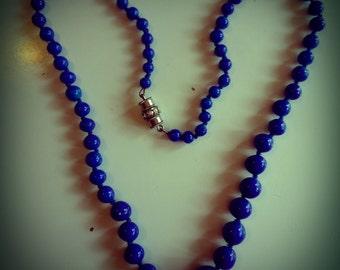 Lapis lazuli necklace 60