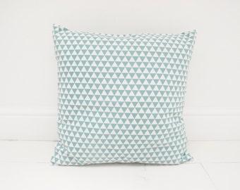 Pillowcase blue triangles