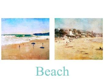 Beach Print Set, Two Beach Photos, Photography Set, Laguna Beach, California Wall Art, Coastal Decor, Summer Decor, Seaside Art, Home Decor