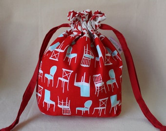 Red Chairs Project Bag