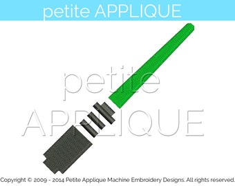 cute starwars lightsaber green fill stitch Design for Embroidery Machines Instant Download - 3 sizes