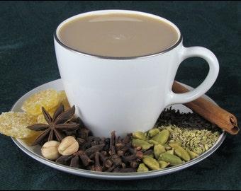Hand Crafted Masala Chai Tea - Loose Leaf - 1oz