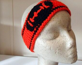 Crochet football Ear warmers