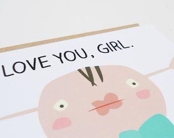 Postal te quiero, Tarjeta San Valentín, Sobre reciclado marrón