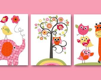 Digital Download Print Printable Art Instant Download Digital Kids Wall Art Baby Nursery Decor Baby Girl Nursery Print set of 3 8x10 11X14