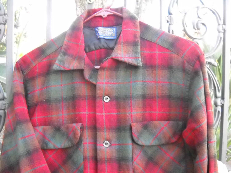 Vintage Pendleton 100 Percent Wool Flannel Size Med Heirloom