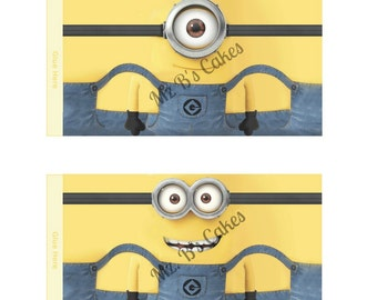 Minion Wrappers For Minion Pop Party Favors