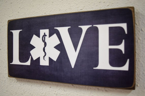 emt emergency medical technician sign emt gift love sign