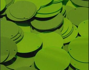 Metallic Lime Green Disc Sequins 24mm - JR02852