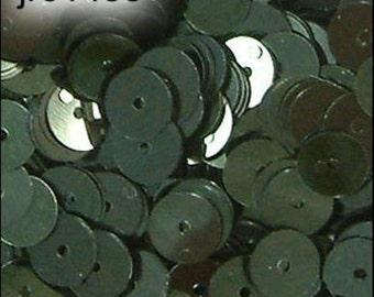 Metallic Forest Green Flat Sequins 6mm - JR01438