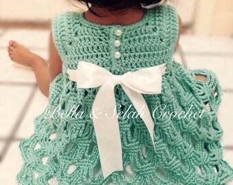 Crochet Party dress for little girl, Flower girl dress, Birthday dress, Crochet dress for babies