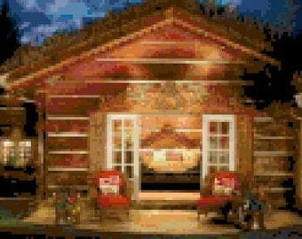 Night Lights Cross Stitch Chart