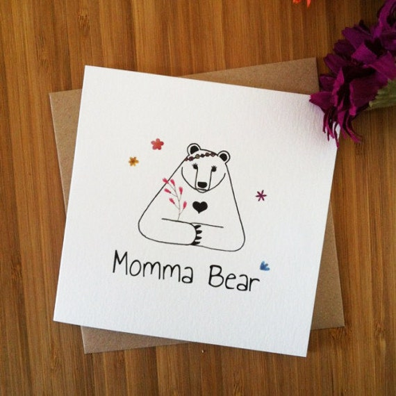 Cute Mothers Day Card Momma Bear Card Card For Mum Mom
