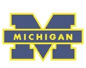 Michigan Wolverines Logo -- Counted Cross Stitch Chart Patterns, 3 sizes!