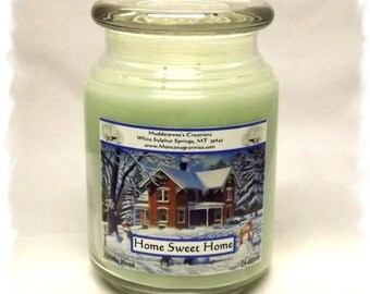 Home Sweet Home Paraffin Container Candle
