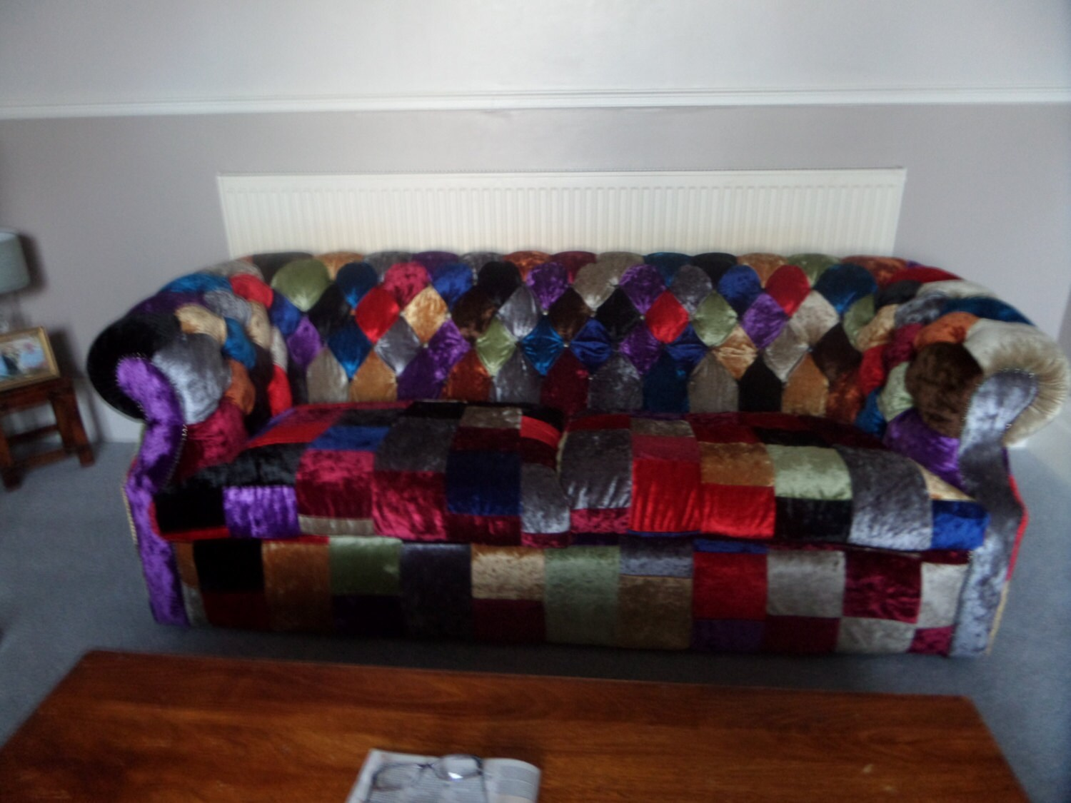 Patchwork Chesterfield Sofa By Stevewattsupholstery On Etsy