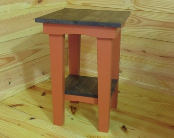 Farmhouse Bedside Table, End Table, Rustic Side Table, Night Stand, Patio Table, Reading Table, Handmade