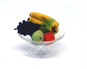 Handmade Fruit in Glass Craft Bowl