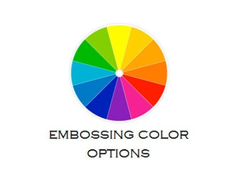 Embossing Powder Color Option Samples