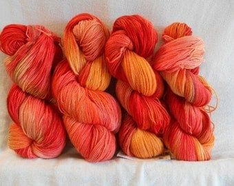 Hand dyed Pure Wool 4ply Yarn CC14/139