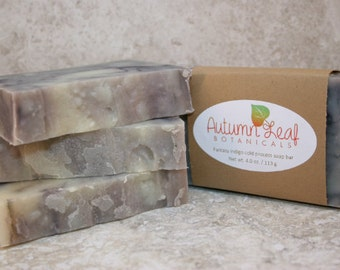 Fantasy indigo cold process soap bar, Vegan soap