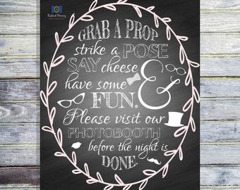 Wedding Photobooth Sign - Printable Photobooth Sign - Photobooth Prop - INSTANT DOWNLOAD - Wedding Photobooth Signage - Photobooth Printable