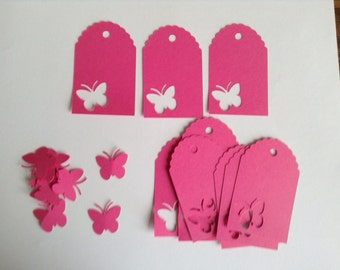 Butterfly Cardstock Tag