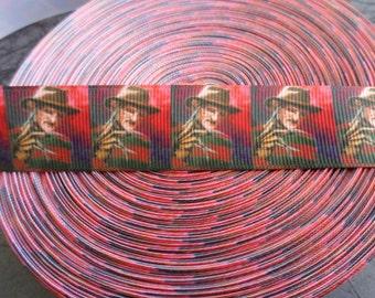 Freddy Kreuger Nightmare on Elm Street Grosgrain ribbon