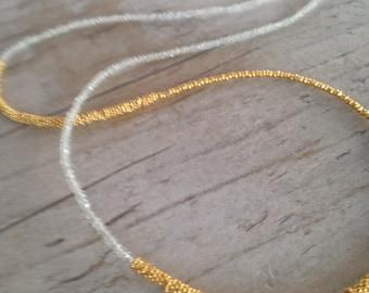 LISA aquamarine & gold vermeil necklace