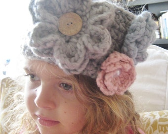 Analee Crochet Floral Headband and Neck Warmer