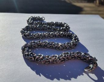 Stainless Steel Byzantine Necklace (Chainmaile)