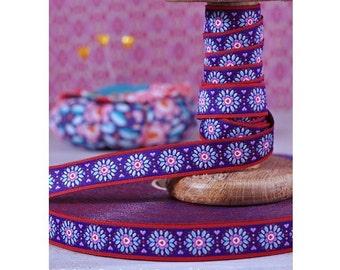 Farbenmix Ribbon *Fall Flower Plum * 1metre