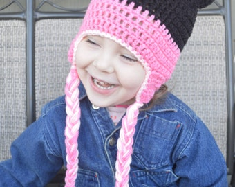 Crochet Minnie Hat, Mittens